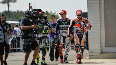 "Lorenzo & Marquez on ""Rossi's Strategy"""