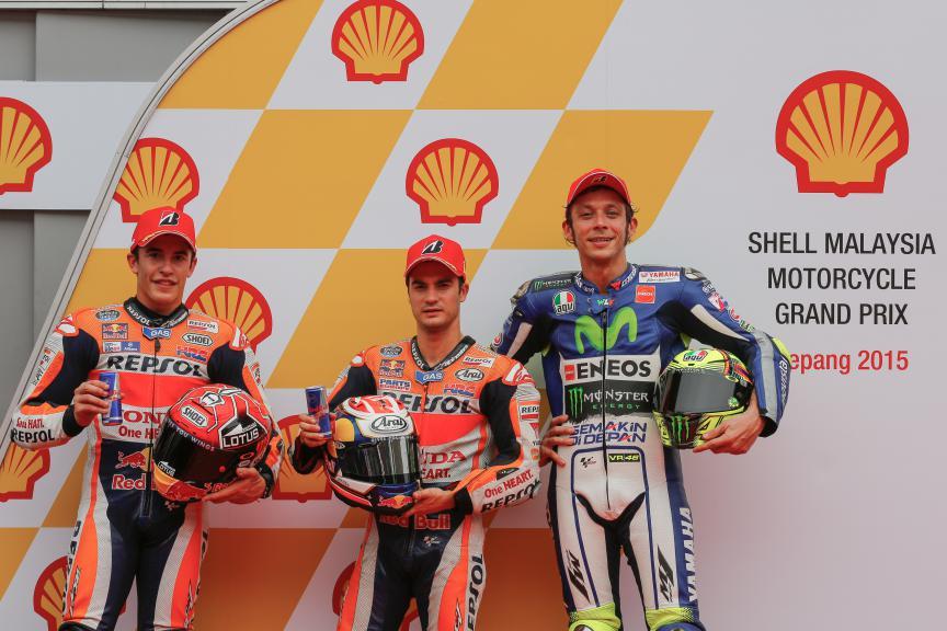 Marquez, Pedrosa, Rossi , Repsol Honda Team, Movistar Yamaha MotoGP, Malaysian GP Q2