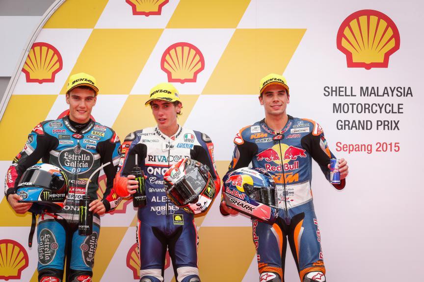 Navarro, Antonelli, Oliveira, Estrella Galicia 0,0, Ongetta-Rivacold, Red Bull KTM Ajo, Malaysian GP QP