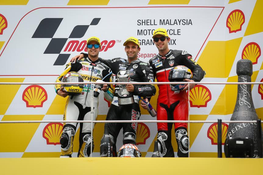 Luthi, Zarco, Folger, Derendinger Racing Interwetten, Ajo Motorsport, AGR Team, Malaysian GP Race