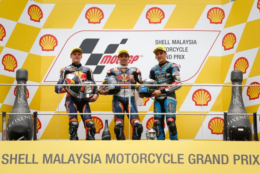 Binder, Oliveira, Navarro, Red Bull KTM Ajo, Estrella Galicia 0,0, Malaysian GP Race