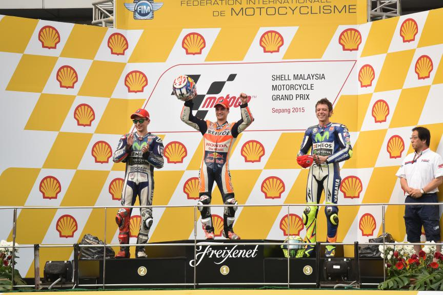 Lorenzo, Pedrosa, Rossi, Movistar Yamaha MotoGP, Repsol Honda Team, Malaysian GP Race