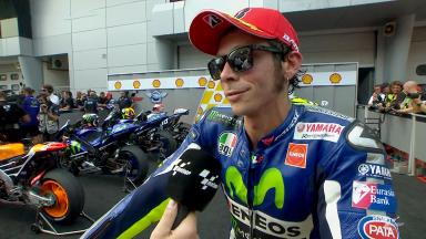 Rossi: 'A very hot race'