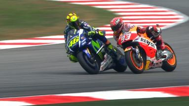 #SepangClash: Rossi and Marquez get physical