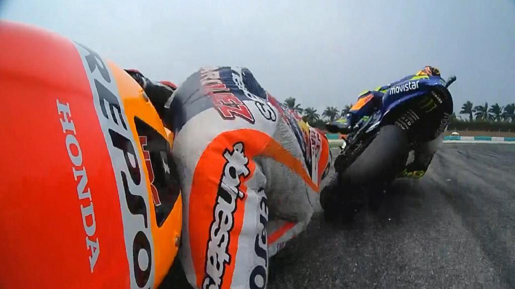 Marquez & Rossi clash
