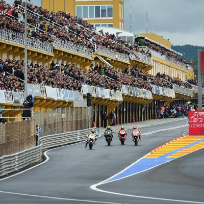 2012 #ValenciaGP where the #MotoGP race started from the pits.