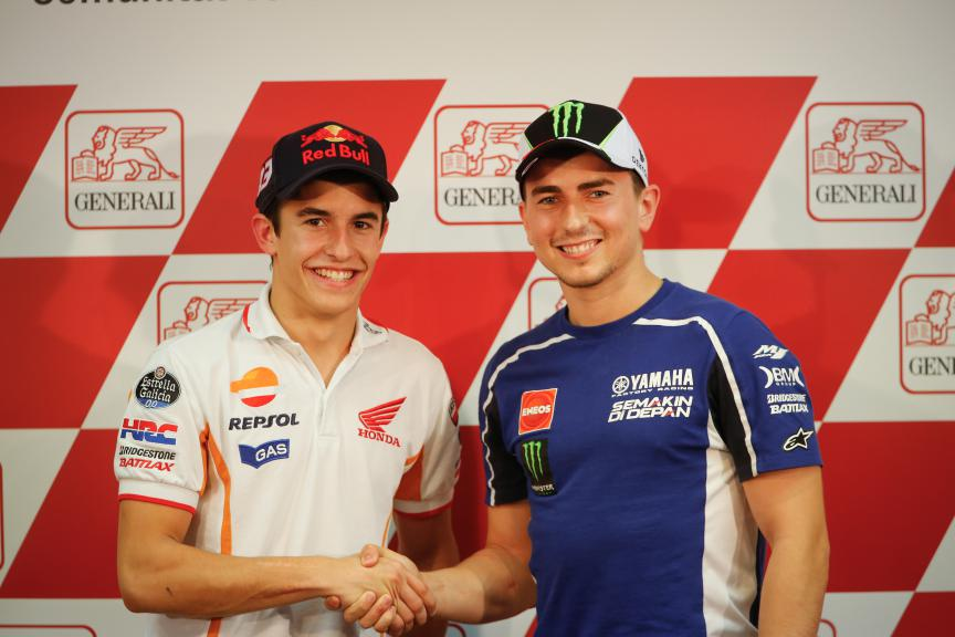 Marc Marquez, Jorge Lorenzo, Repsol Honda Team, 2013 Valencia Race
