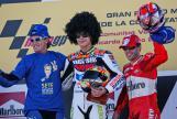 Gibernau, Rossi, Capirossi, 2003 Valencia Race