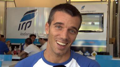 デ・アンジェリス:「僕は笑顔!」
