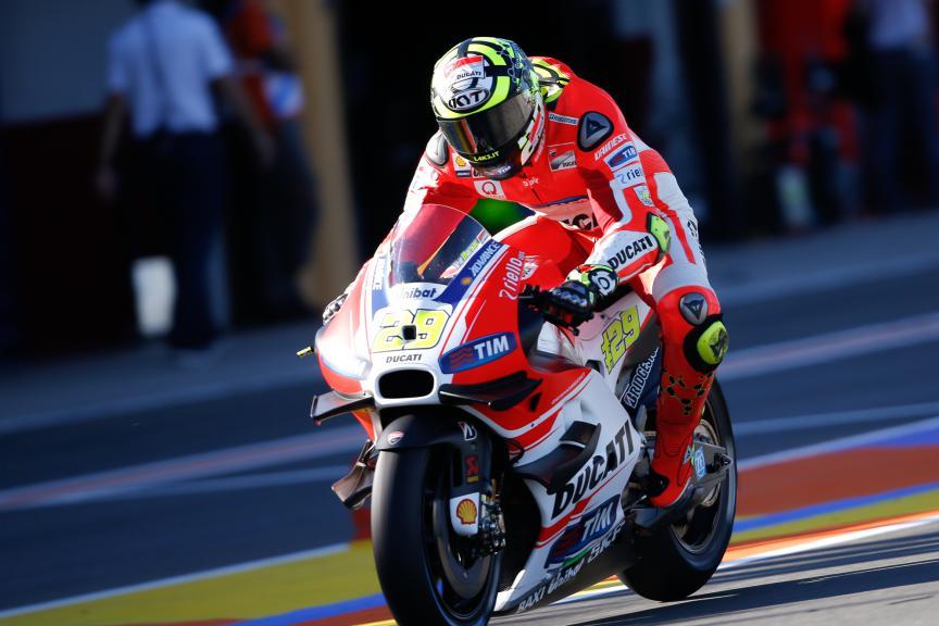 Andrea Iannone, Ducati Team, Valencia GP, FP2