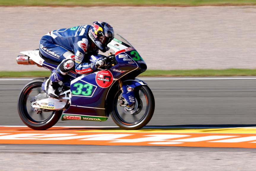 Enea Bastianini, Gresini Racing Team Moto3, Valencia GP, FP2