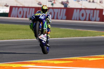 Rossi: «Estoy relajado y contento»