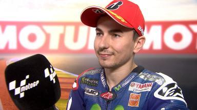 Lorenzo: «La presión me ha dado la fuerza que necesitaba»