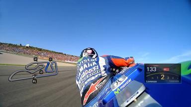 Lorenzo's pole-winning lap