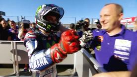 Jorge Lorenzo reflects on a 'perfect lap' as he records his fifth pole of the season ahead of the Valencia GP.