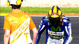 Valentino Rossi's crash in Q2 proved just how hard the 'Doctor' is pushing in a bid to lift a tenth title at the Valencia GP.