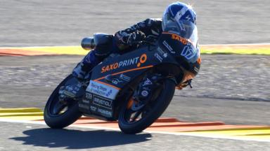 McPhee celebrates new contract with pole in Moto3™