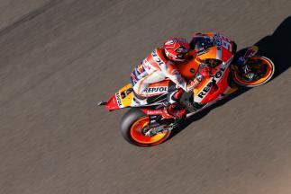 Márquez en tête de la séance FP4 à Valence