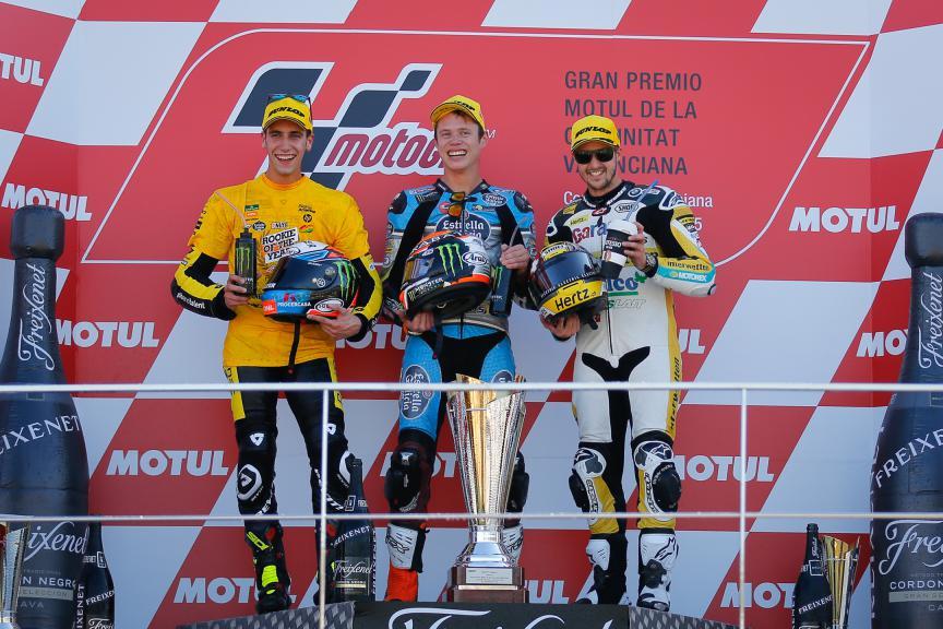 Rins, Rabat, Luthi, Paginas Amarillas HP 40, Estrella Galicia 0,0, Derendinger Racing Interwetten, Valencia GP Race