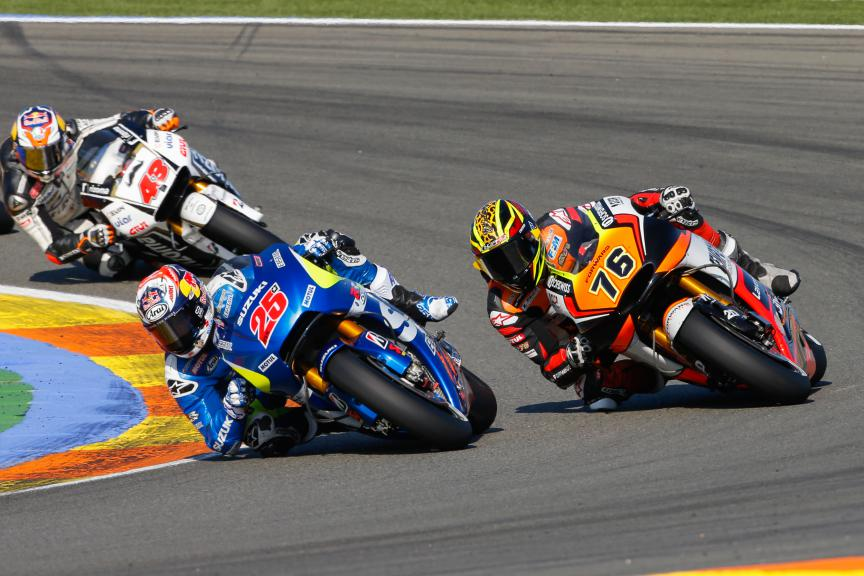 Maverick Viñales, Loris Baz, Team Suzuki Ecstar, Forward Racing, Valencia GP Race