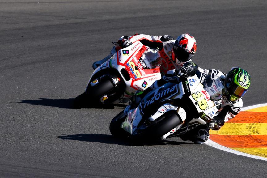Cal Crutchlow, Yonny Hernandez, LCR Honda, Octo Pramac Racing, Valencia GP Race