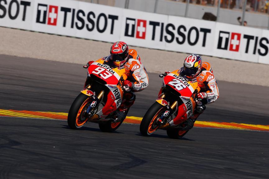 Marc Marquez, Dani Pedrosa, Repsol Honda Team, Valencia GP Race