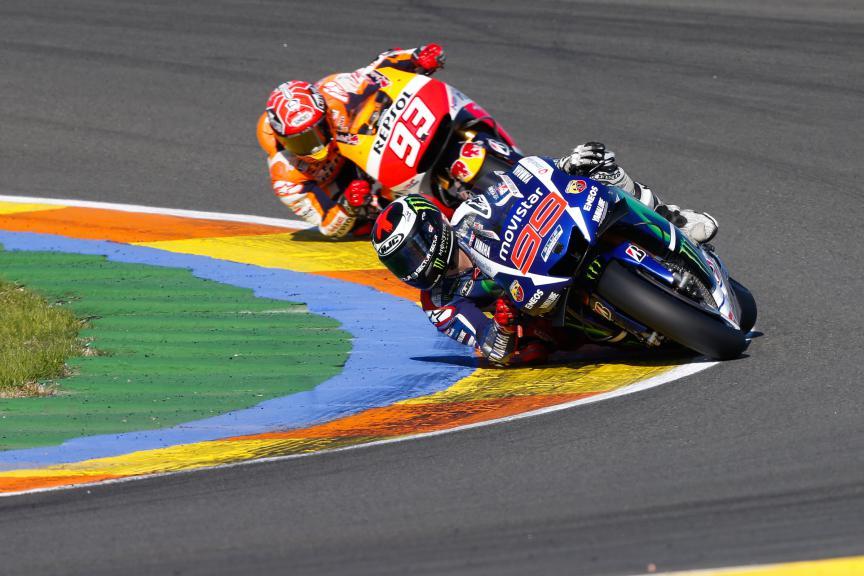 Jorge Lorenzo, Marc Marquez, Movistar Yamaha MotoGP, Repsol Honda Team, Valencia GP Race