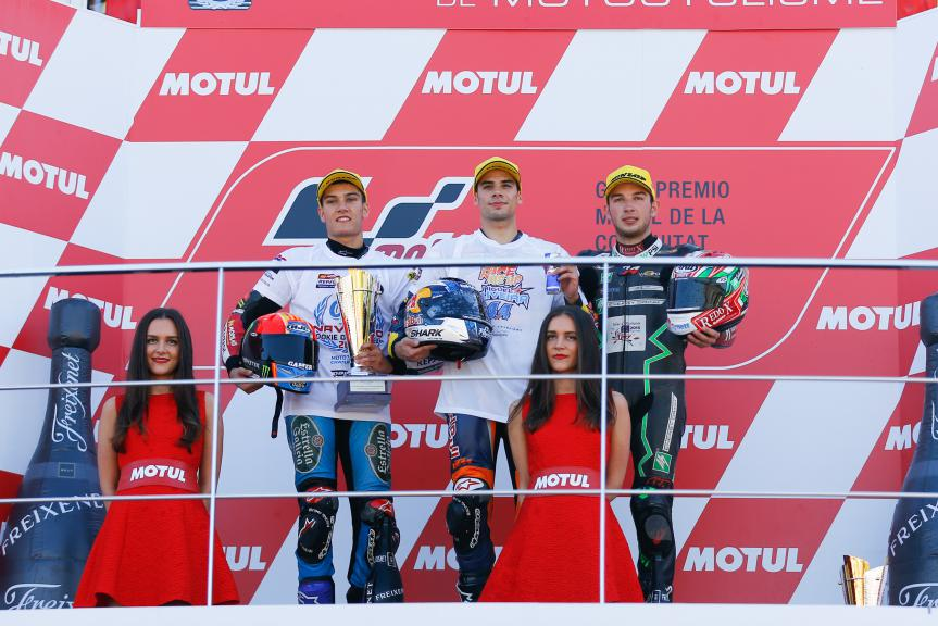 Navarro, Oliveira, Kornfeil, Estrella Galicia 0,0, Red Bull KTM Ajo, Drive M7 SIC, Valencia GP Race