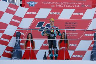 2015 Moto3 World Champion Danny Kent, Leopard Racing, Valencia GP Race