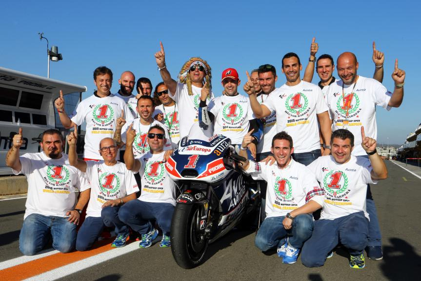 Hector Barbera and Avintia Racing World Champions Open