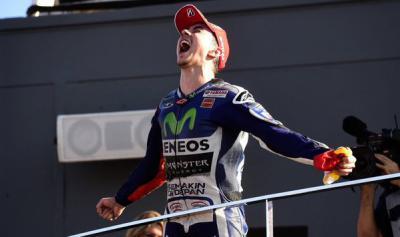 @lorenzo99 Triumphs with FIM 2015 MotoGP™ World Championship Title