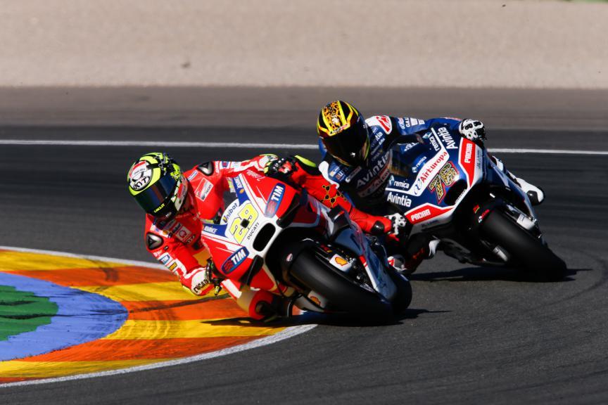 Andrea Iannone, Hector Barbera, Ducati Team, Avintia Racing, Valencia MotoGP Official Test