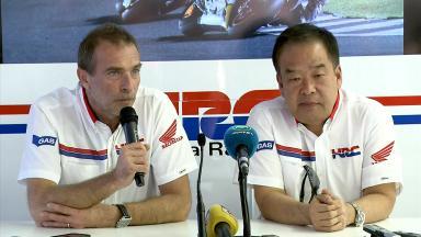 Test de Valence : La conférence de presse de Honda