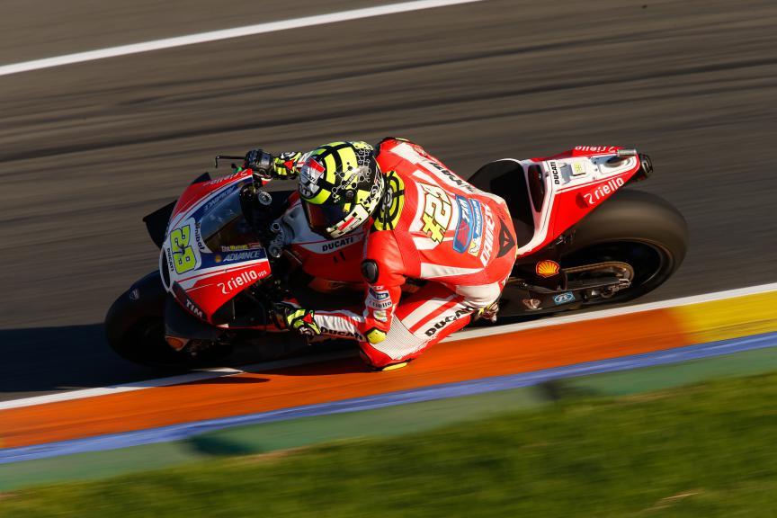 Andrea Iannone, Ducati Team, Valencia MotoGP Official Test