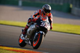 Marquez ends Valencia test on top