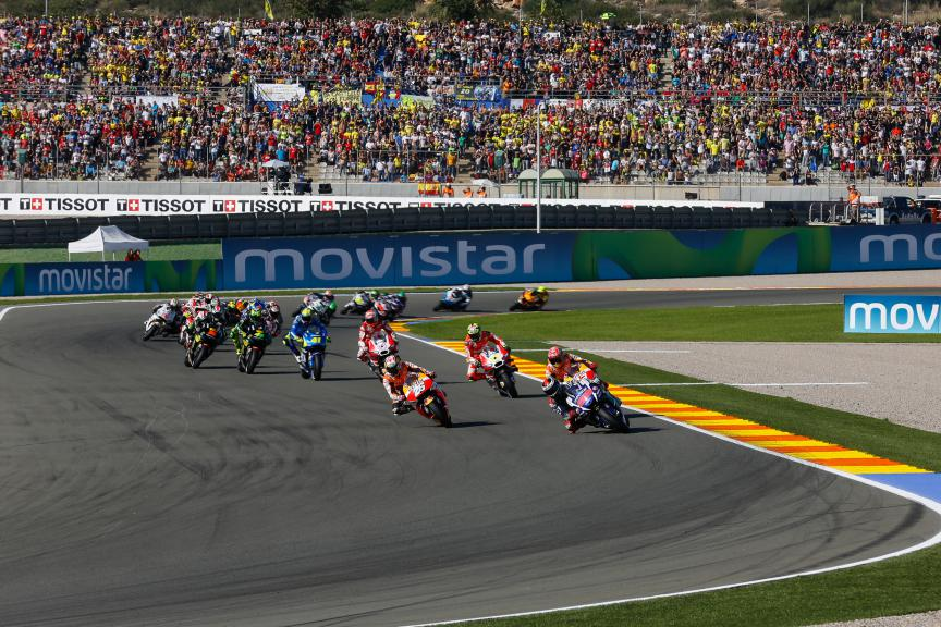MotoGP Action in Valencia