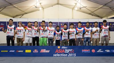 2016 Shell Advance Asia Talent Cup entry list