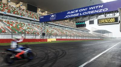 Lorenzo in pista in India