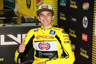 Luca Marini na Moto2™ com a Forward Racing em 2016
