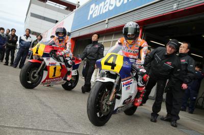 Márquez y Pedrosa en la gran fiesta de Honda Racing