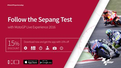 Follow the Sepang Test with MotoGP Live Experience 2016