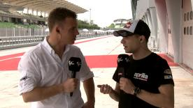 Stefan Bradl chats to motogp.com's Dylan Gray about how the Sepang test went and Aprilia's plans for the future.