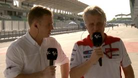 Ducati Corse Sporting Director Paolo Ciabatti looks back on the factory teams performance at the Sepang test with motogp.com's Dylan Gray.