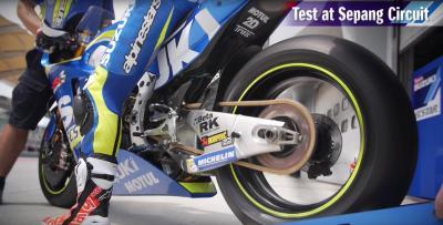 Suzuki en el test de Sepang