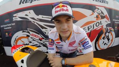 Pedrosa: 'Happy to be here!'