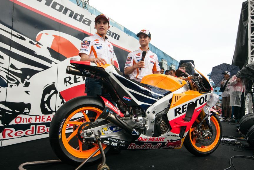 Repsol Honda Team unveil new RC213V in Indonesia