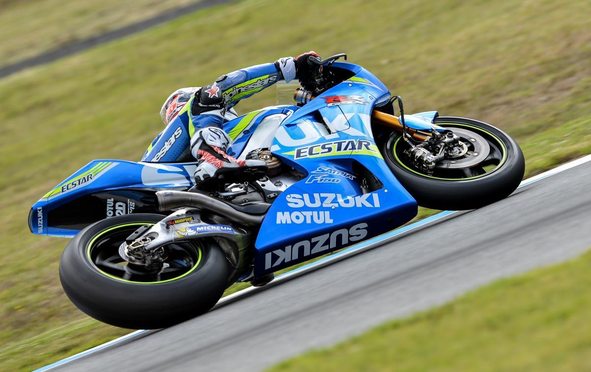 Maverick Viñales en action aux essais MotoGP 2016