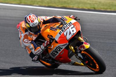 "Pedrosa: ""We rode on used tyres all day"""