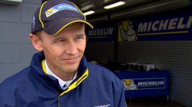 Michelin Racing's Technical Director Nicholas Goubert reviews tyre performance from the Phillip Island test with motogp.com's Dylan Gray.