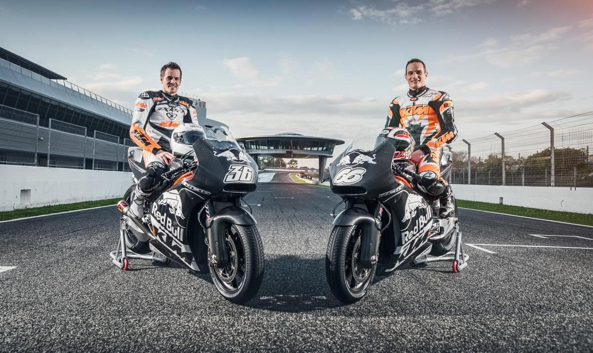 Erster Test 2016 für die KTM RC16